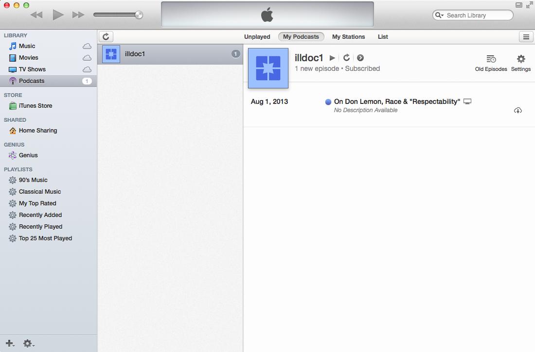iTunes window