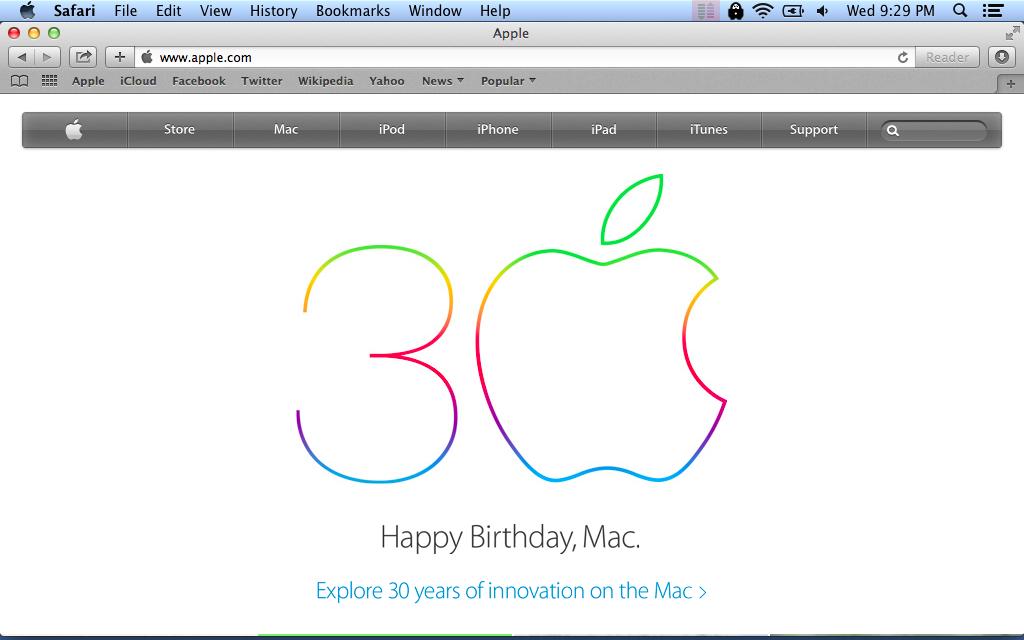Safari on apple.com